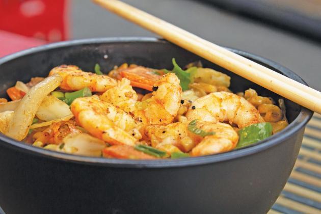 Egg Roll Bowl with Shrimp