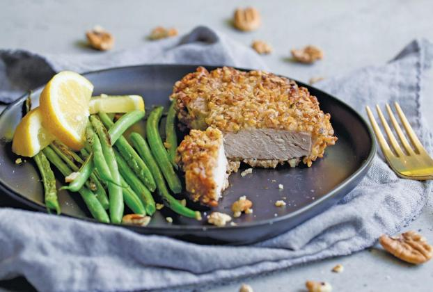 Pecan-crusted air fryer pork chops
