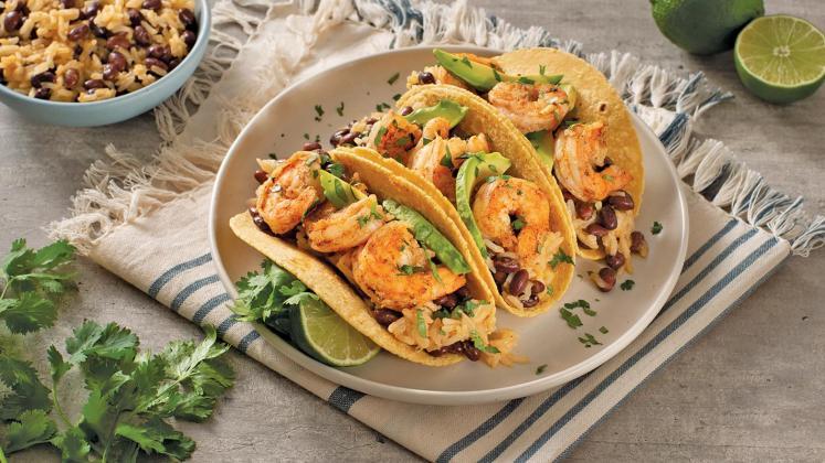Cuban Shrimp And Rice Tacos