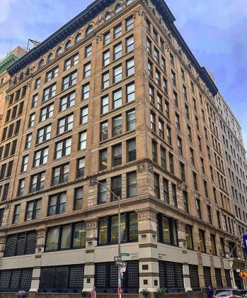 The Triangle Shirtwaist Company building, now the Brown Building, on the NYU campus today.