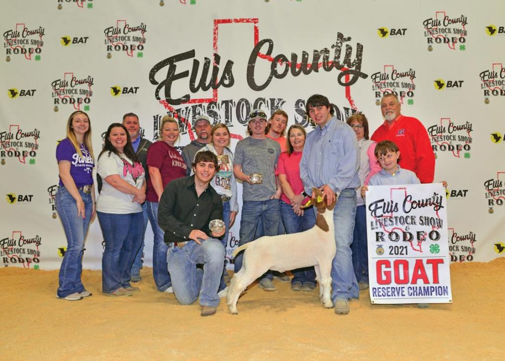 Reserve Champion Market Goat: Colton Long, Midlothian FFA