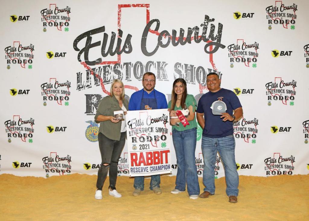 Reserve Champion Market Rabbit: Anaya Borjas, Waxahachie FFA