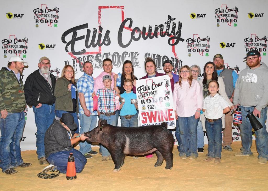 Grand Champion Market Swine: Cooper Trojacek, Midlothian FFA