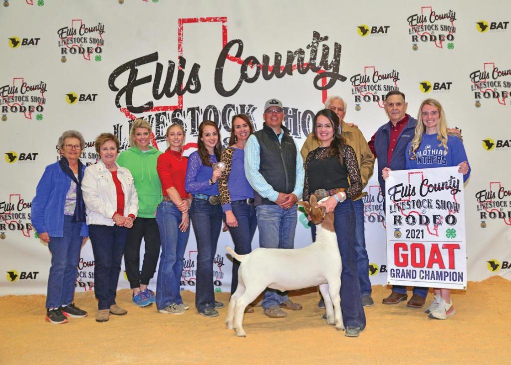 Grand Champion Market Goat: Kylie Wimbish, Midlothian 4-H