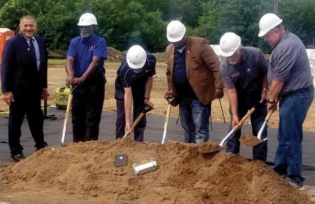 The City of Hutchins broke ground Monday morning on a new $6.5 million 18,200-square-feet building, Public Safety building located at the corner of Palestine and Denton Streets.