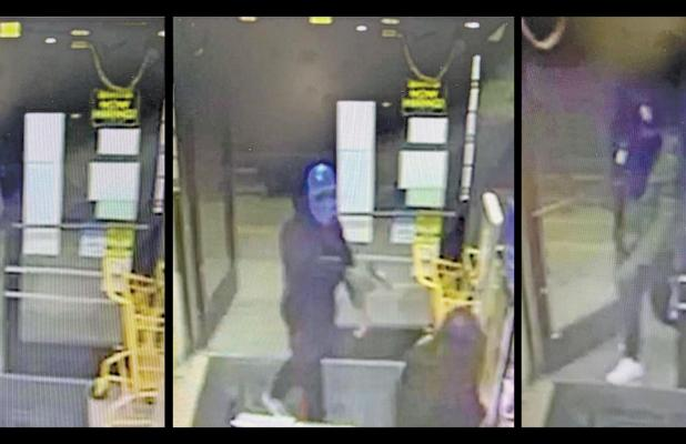 Surveillance video shows the three suspects entering the Dollar General in Ferris last Thursday night.
