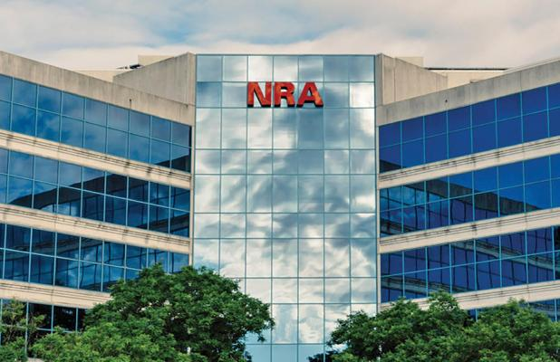 The NRA, whose headquarters are in Virginia (above), said in a statement they were going to restructure as a Texas nonprofit to exit what it said was a 'corrupt political and regulatory environment in New York' where it has been incorporated for 150 years