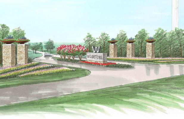 Artist rendering of the planned entry to the new Woodstone community in Ferris.