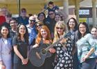 """Jade Flores gets a warm welcome from fans when she taped a segment for ECP-TV. Flores, from Red Oak, got the green light to Hollywood on """"American Idol."""" Interviewed in front of the gazebo in town square in Ferris, she pleased the crowd with a rendition of """"Folsom Prison Blues"""" by Johnny Cash."""