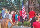 About 200 protesters marched to the Waxahachie courthouse in the center of downtown beginning at around 6:30 p.m. Saturday.