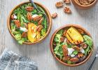 Spiced Pecan Grilled Peach Salad with Goat Cheese