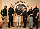Ceremonies were held at Ferris ISD and included K9 Riot and SRO Gabriel Flores – Lamesa Police Department, K9 Jet and Officer Kyle Walters – New Haven, Mo. Police Department and K9 Java and Officer Vernon Busby – Italy Police Department.