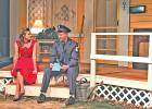 "In ""My First Date,"" Annastasia Erhard (Cassidy Ann Hortman) is entertained by postman Mr. Walker (Aaron Green), who is confident women love a man in uniform."