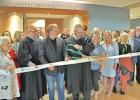 In a ribbon-cutting ceremony held Wednesday, April 14, the 378th District Court of Texas relocated to a new courtroom. Pictured: Judge Joseph Gallo (Left), County Judge Todd Little (Center), Judge William Wallace (Right).