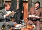 """Dr. John Watson (Connor Perry) and Sherlock Holmes (Andrew Williams) are drawn into a new case by Dr. Thorneycroft Huxtable (Rockey Carter), as """"Sherlock Holmes: The Adventure of the Priory School"""" opens Friday at Theatre Rocks! in Ennis."""