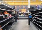 Some aisles in the Red Oak Walmart looked as if people were readying for the apocalypse. According to a source, if the supply chain is interrupted, most supermarkets will be empty in less than two days.