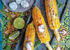 Grilled Corn with Garlic and Herbs
